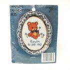 1986 New Berlin Co Counted Cross Stitch Kit Teddy Bear DOB Date of Birth Qty 10