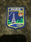 PARIS FRANCE 3 x 2 1 4 EMBROIDERED PATCH SEW ON EIFFEL TOWER