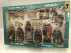Vintage Bavarian Forest West Germany Nativity Set Complete In Box 14 Piece