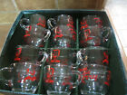 SET OF 12TOM AND JERRY CLEAR GLASS PUNCH BOWL CUPS