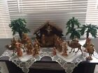 Vintage Fontanini Roman Christmas Nativity Set Depose Italy 22 Pieces Spider