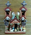 Folk Art Clay Andes Mission Church Nativity Christmas Angels Handcrafted Peru