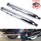 Megaphone 35 Slip on Mufflers Exhaust Pipes End Caps For Harley Touring 95 16