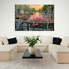 Amsterdam Wall Art Large Picture Print on Tempered Glass 59 X 39375