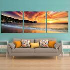 Ocean Sunset Large Wall Art Picture Print on Tempered Glass 8275 X 2762