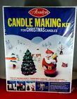 NEW VINTAGE AVALON Candle Making Kit for Christmas 70S 4988 3D SANTA TREE SOAP