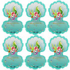 12pcs Mermaid Invitations 3D Pearlescent with Envelopes Birthday Wedding Favor
