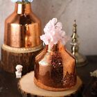 2 pcs 8 Inch tall Rose Gold Mercury Glass Tapered Neck Vases Centerpieces Sale