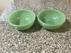 2 VINTAGE FIRE KING JADITE OVEN WARE CEREAL BOWLS 5 INCH GLOSSY