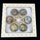 VTG Xmas West Germany MASTERS SILK GLASS BALLS  Madonna Child Nativity Ornament