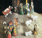 DIY Rustic Christmas Paper Craft Crche Building Kit Vintage Nativity Display