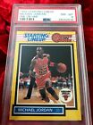 1989 STARTING LINEUP #NNO MICHAEL JORDAN ONE ON ONE PSA 8!  MOST WANTED