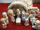 Hallmark Mary Hamilton Nativity Set Figurines 11 Piece Vintage 1981 1986 Mint