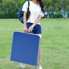 47 Outdoor Aluminum Folding Table Height Adjustable Portable Camping Table Blue
