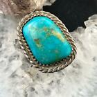 Native American Silver Turquoise Ring Size 725 For Women or Men