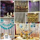 Metallic Foil Fringe Curtain Tinsel Photo Backdrop Party Birthday Decor 2M 3M