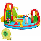 Kids Gift Inflatable Water Slide Bounce Park Splash Pool Funny with 480W Blower