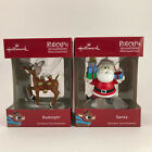 Hallmark 2018 Rudolph The Red Nosed Reindeer & Santa Claus Christmas Ornaments