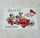 Texaco Fire - Chief Gasoline - Reproduction - Tin Sign