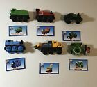 Thomas friends 6 Wooden Train Lot & Cards Duck Skarloey Trevor George Butch toys