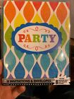 party invitations with envelopes 8 Count Glitter New