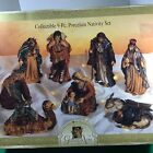 Vintage Grandeur Noel 9 Piece Christmas Nativity Set Ceramic 10 Large Figures