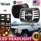 105W Osram 5x7 7x6 LED Headlight Hi Lo Beam Halo DRL For Jeep Cherokee XJ YJ