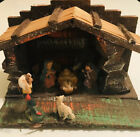 Vintage Nativity Scene Wood Manger Made in Italy Folding Hinges