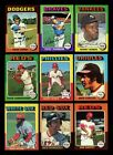 LOT OF 305 DIFFERENT 1975 TOPPS BASEBALL CARDS PARTIAL SET VGEX EX GMCARDS