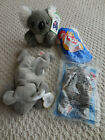 Lot of 4 koala Ty Mel koala bear Beanie Baby 2 Teenie Mel & 1 Windmill Koala