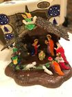 Vintage Shiny Brite Hard Plastic Christmas Nativity Made in Hong Kong