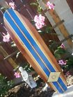 4ft SURFBOARD WALL ART Hawaiian surf beach hibiscus decor longboard tiki sun