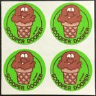 4 Block Vintage Trend Matte Scratch  Sniff Stickers Chocolate Mint