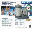 Intex Krystal Clear 2500 GPH Above Ground Pool Filter Cartridge Pump With Timer