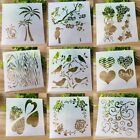 9pcs set Walls Painting Layering Stencils Scrapbooking Embossing Template TW