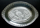 EAPG oval PLATTER satin FROSTED STORK Crystal Glass Co 101 edge 1870s Iowa City