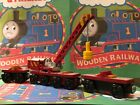 Thomas & Friends Wooden Railway Train ROCKY COMPLETE with BOTH TENDERS! Rare!