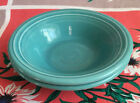 SET OF 2 FIESTA STACKING CEREAL BOWLS 6.5 IN TURQUOISE FIESTAWARE  HLC EUC FRUIT