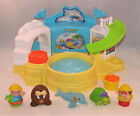 Fisher Price Little People Aquarium Visit Sea Ocean Set w Dolphin Walrus Turtle