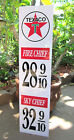 TEXACO GAS FIRE CHIEF SKY CHIEF METAL VINTAGE STYLE GASOLINE PRICE SIGN