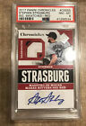 PSA 8 WS MVP PANINI CHRONICLES STEPHEN STRASBURG 3 COLOR PATCH AUTO 2 5 CARD