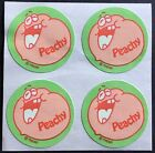 4 Block Vintage Trend Matte Scratch  Sniff Stickers Peach Mint