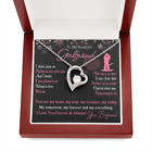 To My Girlfriend Forever Love Heart Necklace Gift for Valentine Birthday Wedding