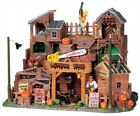 Lemax Spooky Town Chainsaw's Lumber Yard #95802 ~ Halloween Village Creepy