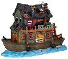 Lemax Spooky Town Haunted Houseboat #45666 ~ Halloween Village ~ Black Cats Ship