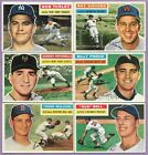 1956 Topps Partial Complete Set Lot 178 340 VG VG EX EX