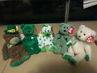 (5) TY Beanie Babies St. Patrick's Day-Patty O'Lucky,Erin,Clover,Woolins,Shamrck