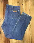 Vtg Wrangler USA 13MWZ Cowboy Cut Blue Jeans Mens Tag 42x34 Ranch Texas 42x33