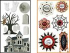 Jolees HAUNTED HOUSE LARGE DOILY MEDALLIONS Stickers HALLOWEEN GHOSTS TOMB