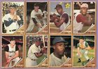 1962 Topps Partial Complete Set Lot 207 598 VG VG EX EX